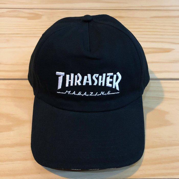 ☆ETW☆【一中店】 THRASHER HOMETOWN 5 PANEL SNAPBACK 刺繡 老帽 黑色