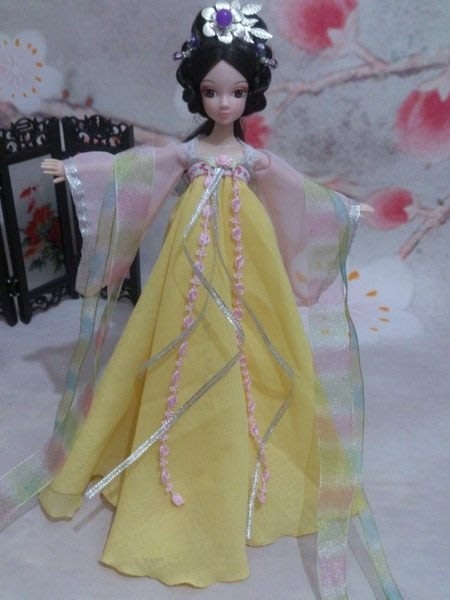 愛卡的玩具屋 可兒娃娃自制古裝娃衣 清雅