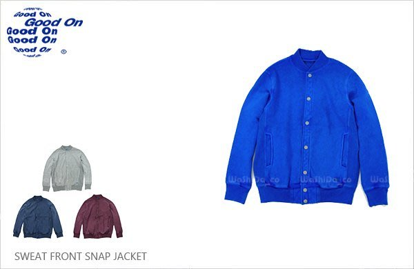 WaShiDa【gobw1406p】Good On 日本品牌 後染 純棉 厚磅 基本款 學院風 長袖 棒球 外套