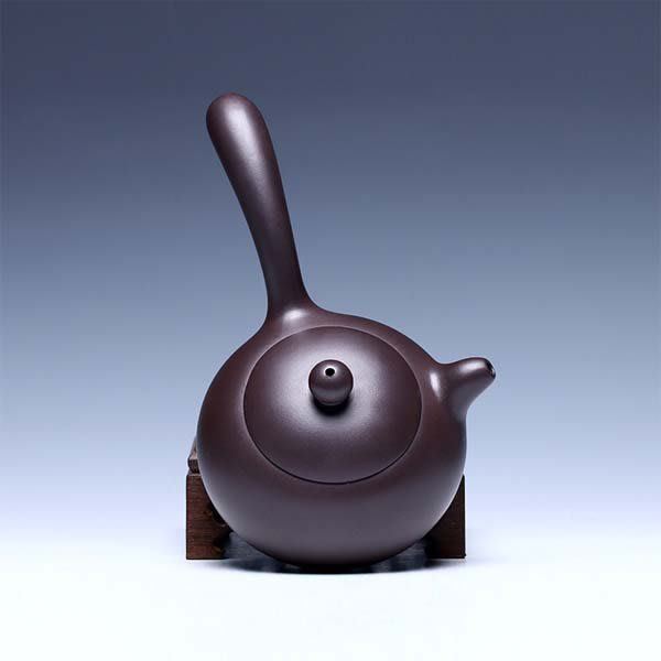 5Cgo【茗道】含稅會員有優惠 16397049040 橫把側把壺老紫泥宜興紫砂壺手工製作茶壺泡茶壺功夫茶具 250CC