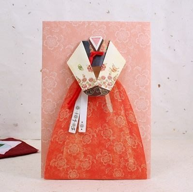 【象牙cute ta】韓國 peony Korean traditional dress card _ 牧丹 / 韓國傳統禮服萬用卡