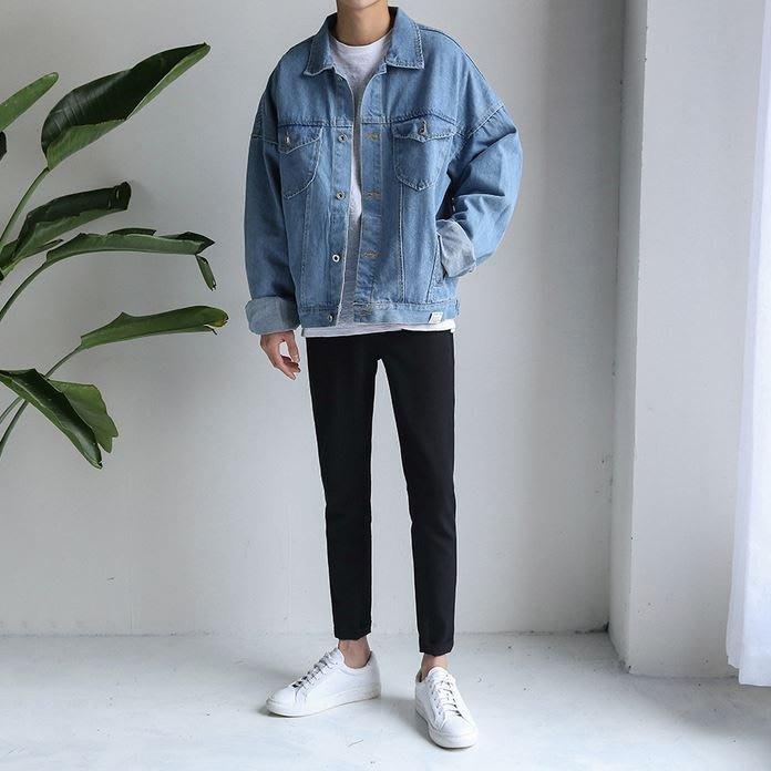 【NoComment】韓系街頭 質感簡約 蝙蝠袖寬版牛仔外套 ZARA Uniqlo