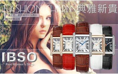 [三件免運]瑞士IBSO超薄卡蒂亞款型施華洛士奇晶鑽名媛手錶一六九 一元起標