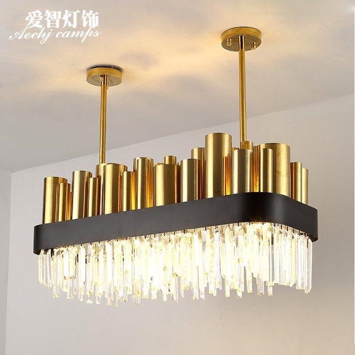 北歐簡約工業風長形吧臺餐廳吊燈後現代客廳店鋪工程燈具【6-668源家精品】