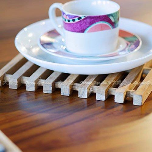 柚木 隔熱墊(4入)【大綠地家具】100%印尼柚木實木/餐墊/杯墊/鍋墊/木製餐具