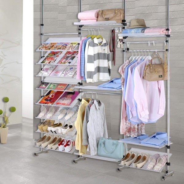 【中華批發網DIY家具】D-90-21-338型多角度旋轉式衣架鞋架層架 雜誌書架