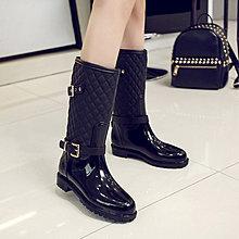 雨鞋艷瑾春時尚雨鞋女高筒加絨套韓國防水鞋女士成人水靴防滑雨靴加厚免運