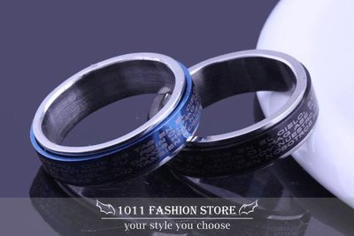 韓國 男性 女性 西德鋼 / 鈦鋼 十字架 聖經 鋼戒 戒指 情侶對戒 可當 項鍊 BH-101301
