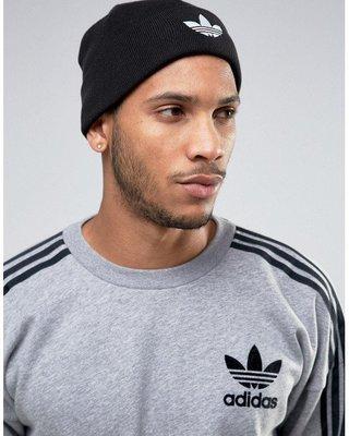 【Admonish】adidas Originals Trefoil Beanie AY9330 毛帽 黑 灰 三葉草