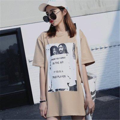 =EF依芙=韓國首爾 時尚精品 東大門同步 早班車7301 纯棉短袖圓領T恤 大碼寬鬆T恤