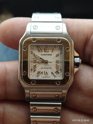 Cartier Santos Galbee Automatic 2423 18K金 女錶