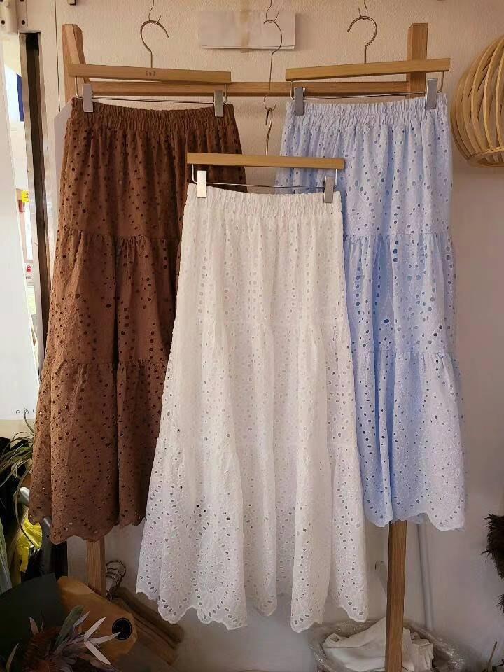超美燒花長裙~2色~森林系~燒花裙/碎花裙~現貨