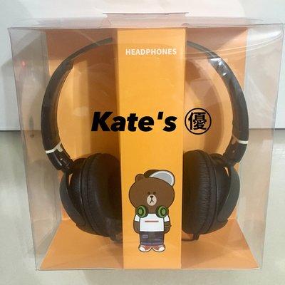 ♥Kate's㊝♥ LINE FRIENDS LINE PAY 正版 熊大款 全罩式耳機