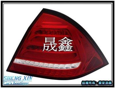 《晟鑫》全新 W203 全LED 01~04年 紅白 跑馬方向燈 尾燈 另有 導光 LED方向燈 魚眼 大燈款式
