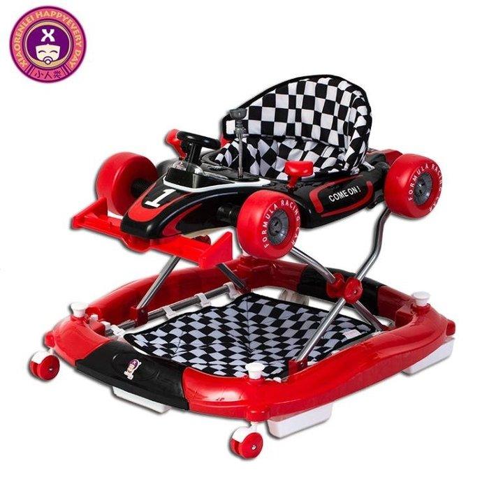 嬰兒童學步車6/7-18個月多功能防側翻帶音樂寶寶手推助步車可摺疊禮物