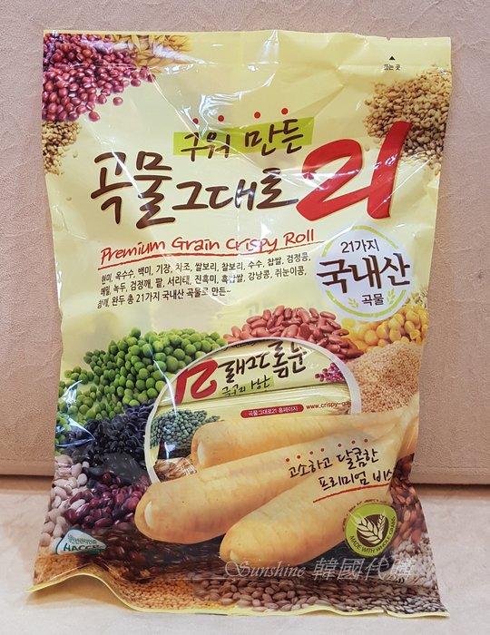 現貨 韓國 五穀雜糧捲 雜糧餅乾 夾心餅乾  烘培穀物 21 穀物棒 180g