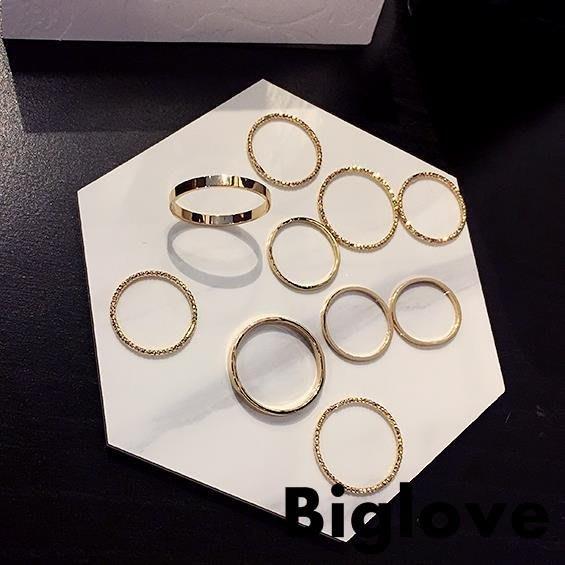 超細戒指ins簡約關節尾戒小指食指戒套裝組合韓版指環女時尚個性
