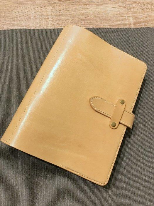 【IAN X EL】A5牛皮萬用手冊/行事曆/活頁筆記本 附純手工皮件