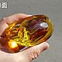 【威利購】琉璃元寶【10公分.鑽石切面&錢紋浮雕】黃水晶元寶