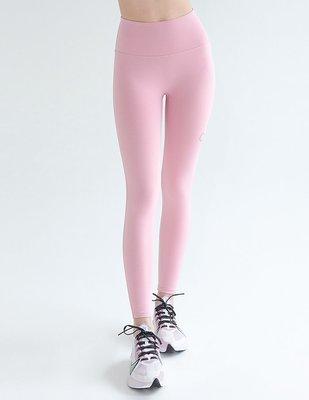 TuTu瑜珈精品╭☆韓國 Front 2 line【F2L- FPK070 裸感中高腰九分褲 (輕薄款)-淺粉色】瑜珈褲