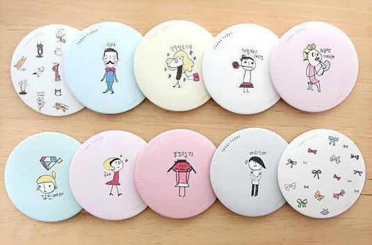 【批貨達人】韓版圓型甜美隨身鏡