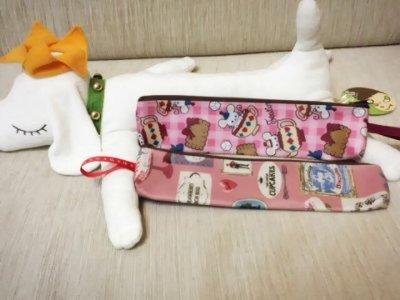 天使熊小鋪~防水筷袋 環保餐具收納包 可放筷子 湯匙 叉子~有2款