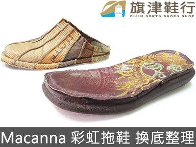 Macanna 麥坎納 換底 縫鞋   彩虹鞋 氣墊拖鞋 整理鞋 Bally 修鞋 斷底 環保底 氧化 ~ 旗津鞋行