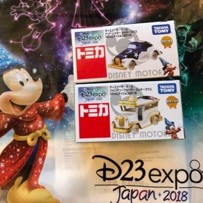 [chin] 日本 迪士尼 世博會 2018年 會場限定 TOMICA Disney D23expo 兩台合售