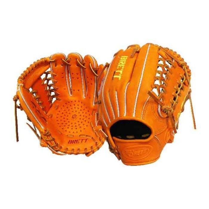 """【綠色大地】BRETT GB5系列硬式棒球手套 12.5"""" 牛皮 備反手 野手手套 棒壘手套 接球面強化 XONNES"""