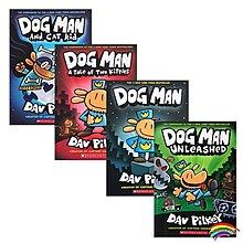 英文原版 神探狗狗的冒險 Dog Man 1 2 3 4冊全套 內褲超人captain underpants 同作者Dav Pilkey幽默英語漫畫橋梁書dog