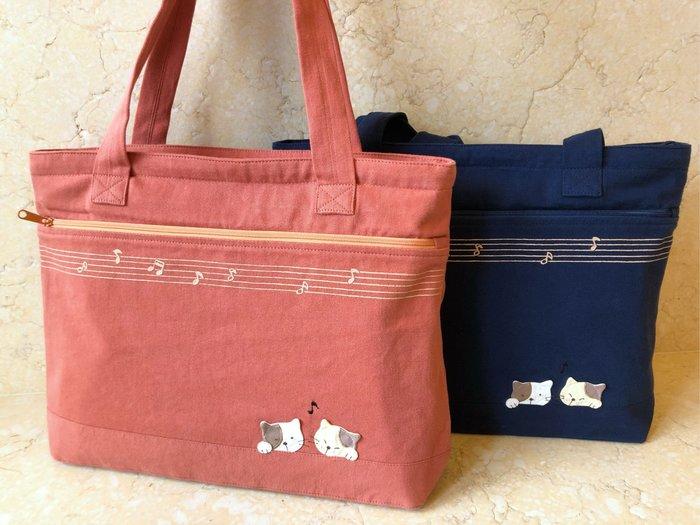日本卡拉貓~音符貓咪防水側背包