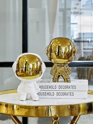 北歐ins風創意陶瓷太空人小禮物桌面擺件宇航員家居裝飾品