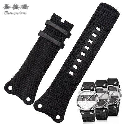錶帶 手錶配件 代CK手表帶男EAGER系列K4B384B3 K4B371B6 K4B371B3尼龍