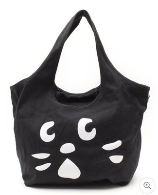 Nya-貓臉托特包 手提袋 側背包 帆布包 驚訝貓 Ne-net 三宅一生副牌 日雜贈品 二手包 古著 Nya- Nya
