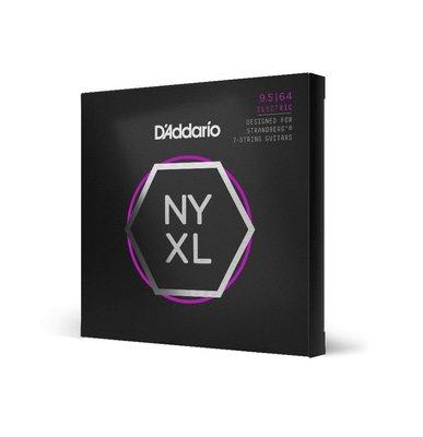 【又昇樂器 . 音響】D'Addario NYXL09564SB 七弦 Nickel Wound 電吉他弦