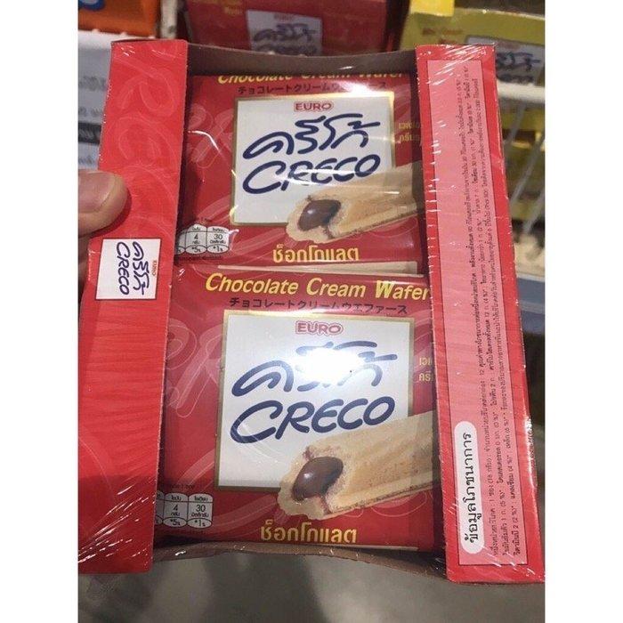 泰國 EURO Chocolate 雙盟巧可力 巧可力酥 EURO MILK CREAM WAFER 巧克力夾心餅乾