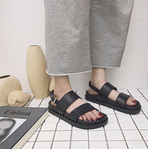 SeyeS fruits雜誌款個性暗黑系基本款百搭涼鞋