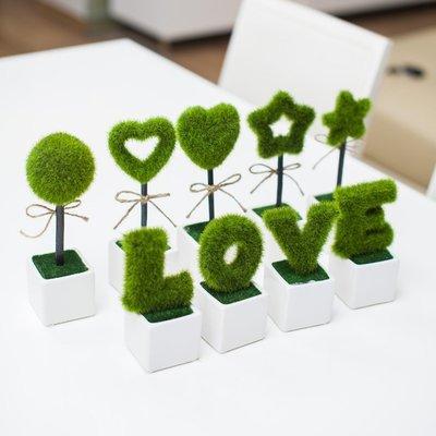 INPHIC-4盆家居裝飾品 毛球仿真花 工藝品擺件