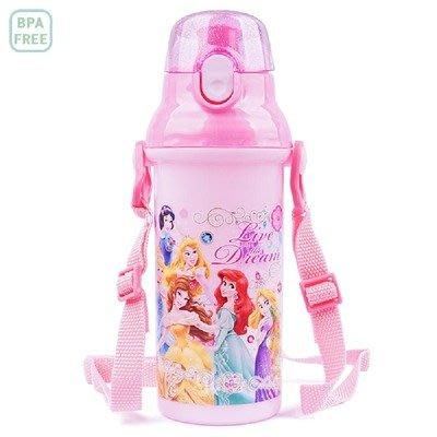 ♀高麗妹♀韓國 Disney PRINCESS 迪士尼公主們按壓彈跳上蓋直飲式水壺/環保兒童LILFANT水壺(預購)