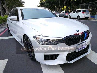 批發 BMW 寶馬 F30 F31 改 G30 M5款 m5  雙線亮黑 三色水箱罩  鼻頭 ~新品上市~