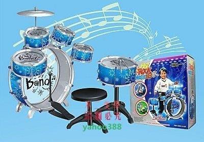 美學142買1送5兒童爵士鼓架子鼓兒童樂器音樂玩具12件套帶凳3110【限❖0577