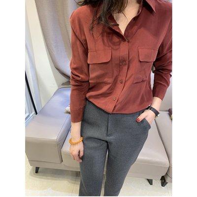 《巴黎拜金女》襯膚色顯氣質的GAO級酒紅色砂洗真絲長袖襯衫