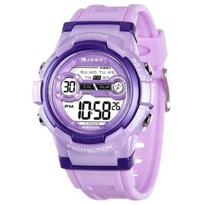 JAGA冷光電子錶 超人氣 M1126 上班族 學生錶 運動錶 上班族女性 大字幕 生日禮物 獎勵品 附保固卡【超低價】