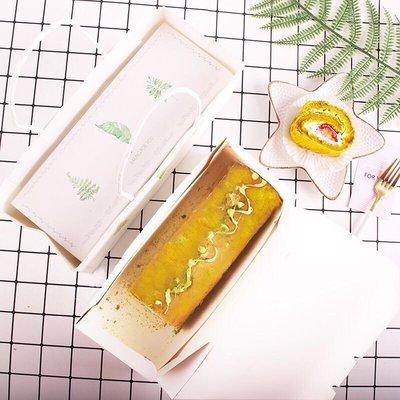 (盒+袋)清新森系蛋糕捲包裝盒 禮盒組 生日 磅蛋糕 生乳捲 彌月 甜甜圈 瑞士捲 西點盒 水果條 ZAKKA 樹葉