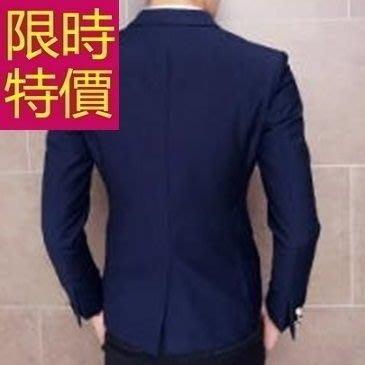 西裝外套 男西服(單外套)-隨性學院風復古明星同款4色59t50[韓國進口][米蘭精品]