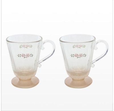 Many 史黛西 玫瑰 玻璃馬克杯 對杯禮盒 預購 2021 春季新款