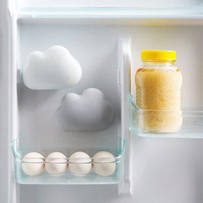 竹炭除味 雲朵造型 冰箱 竹炭除味盒 吸盤 除臭劑 冰箱異味 除味 除臭【RS827】