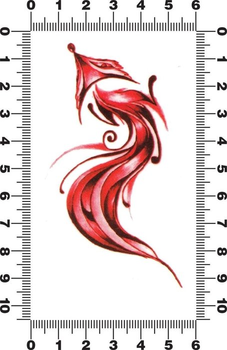【貼貼屋】刺青紋身貼紙 Tatto 個性 身體彩繪 紅狐狸 52