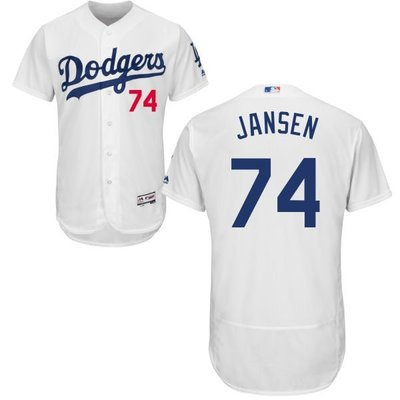 Kenley Jansen Majestic Authentic Player Jersey 球員正式版球衣