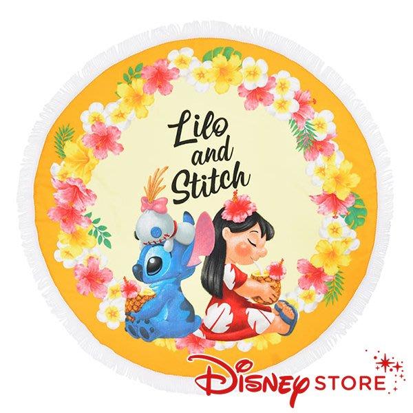 41+現貨不必等 正版 迪士尼專賣店 Hawaiian Stitch 史迪奇 莉蘿 醜丫頭 圓形毛巾 大毛巾 小日尼三